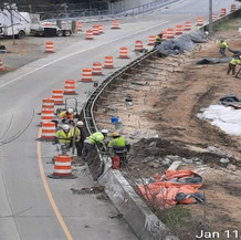 Forming F-Shape Barrier at I-295 NB Ramp.