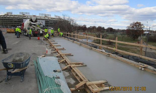 North Bridge Sidewlk Concrete Placement