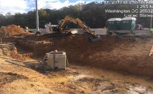 Grading slopes on proposed Bioretention facility