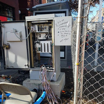 Traffic Control Cabinet on Temporary Base at SW Corner of P Street