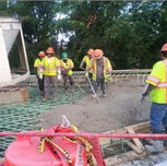 Consolidation of poured Concrete for Moment and Approach Slab over I-295 SB on AFW Bridge # 1017