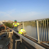 Removing Sidewalk Railing, North Bridge