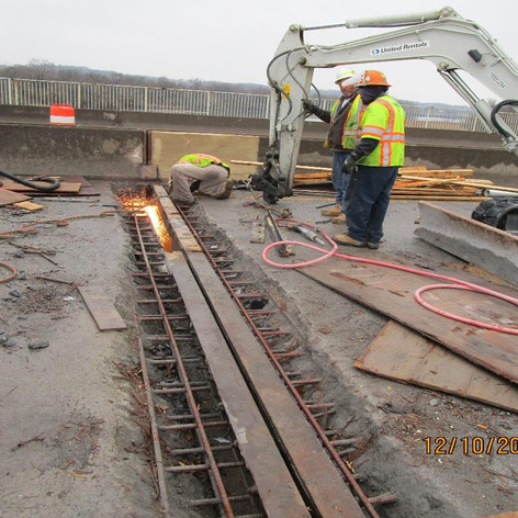 Strip Seal Joint Removal, North Bridge.