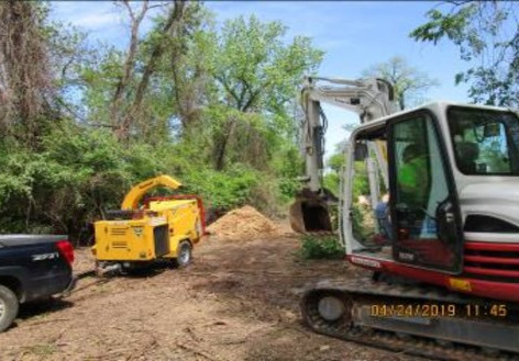 Clearing on NPS Property for Pedestrian Connection Path Construction