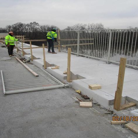 Reinstalling Existing Pedestrian Railing