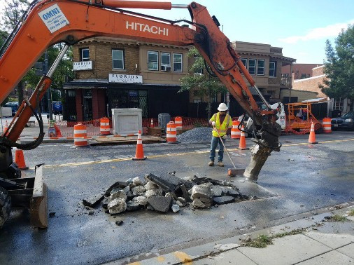 Removal of the Stumps at 14th and Q Street