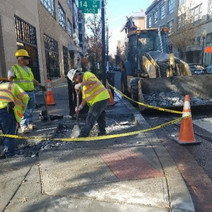 Sidewalk repair by D.E.N. at 14th & Church St