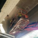 Patching Under the Bridge Deck at Span 8, North Bridge.