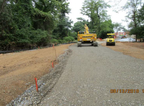 Grading Pedestrian Connection Path, NPS Property