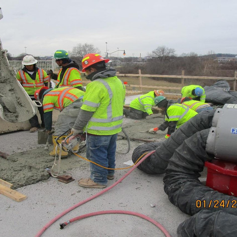 Placing Concrete for Scuppers