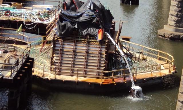 Pier 1 Concrete Cooling System