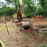 Trench Excavation for Storm Drain Pipes