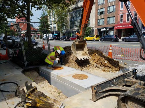 Installation of Double Catch Basin (CB-09) at the NW Corner of Church Street