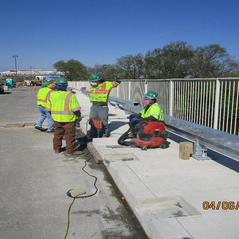 Drilling for Historic Railing Bolts