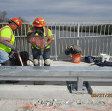 Drilling for Pedestrian Railing