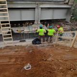 Installing Epoxy Coated Rebars at East Abutment, North Bridge.