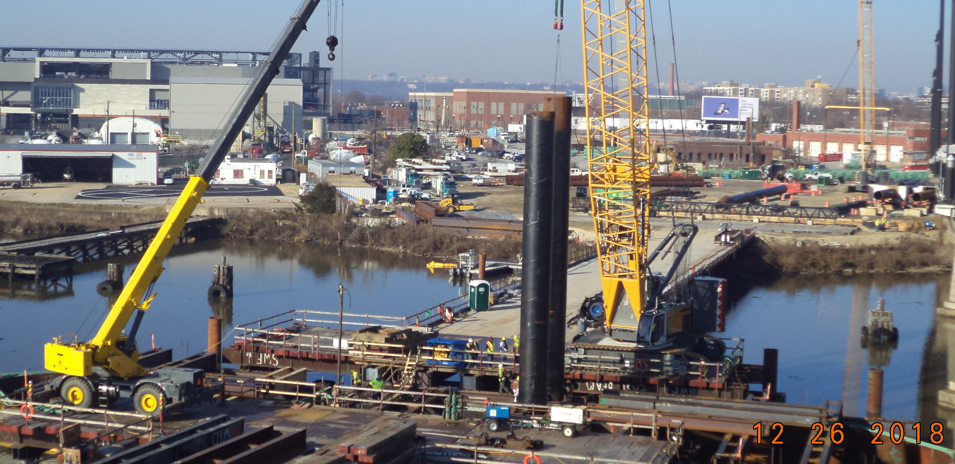 Pile driving - West abutment