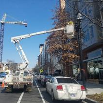 FMCC electrical crew at 2000 block
