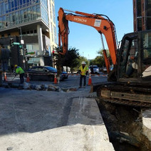 Excavating for Electrical Trench at 14th and Florida Ave