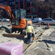 Backfill of trench at 1902 14th St