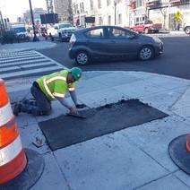 PCC sidewalk repaired