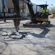 Excavation of test pit 3