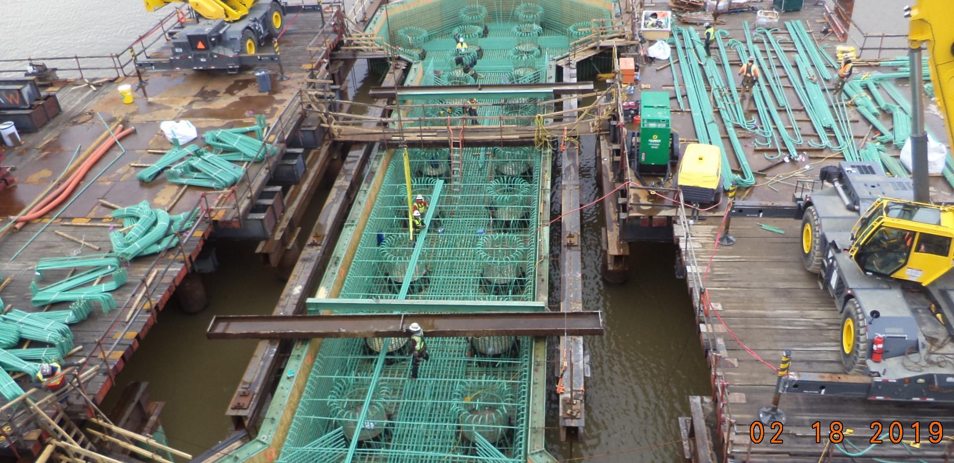Reinforcing steel for V-Pier 1