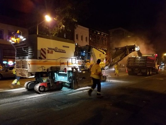 Milling of 14th St. NB by FMCC between Rhode Island Ave & P St.