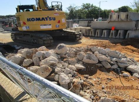 Demolition, North Bridge East Abutment.