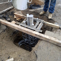 Forming of Traffic Signal Foundation at the NE Corner of P Street