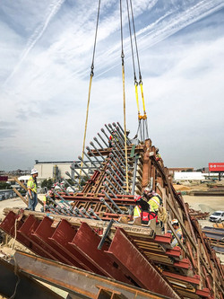 Work on the V-Pier