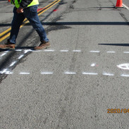 Marking out test pit today on MLK Jr Ave