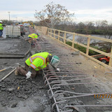 Parapet Demo, North Bridge.