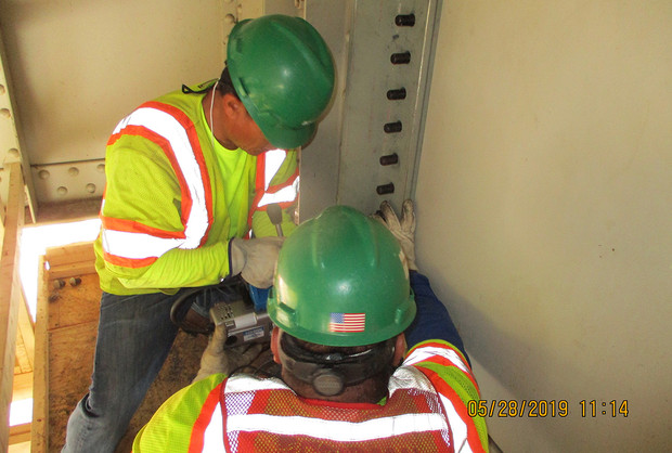Installing Bolts for Jacking Angles at East Capitol Street Bridge West Approach