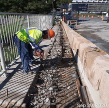 Transition Sidewalk Reconstruction at West Side, South Bridge.