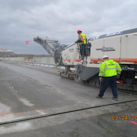 Milling Existing Overlay Spans 1-7