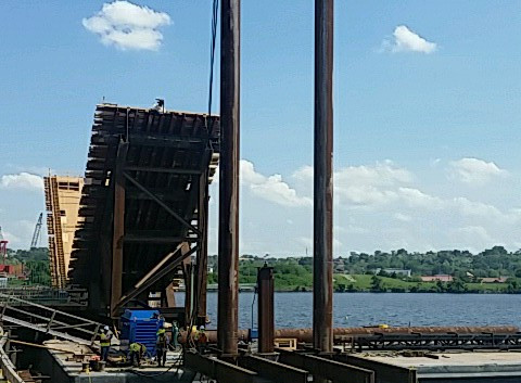 Pile Driving of Falsework Support