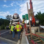 Concrete delivered onsite for AFW Bridge # 1017 Abutment-B Approach and Moment Slab over I-295 SB