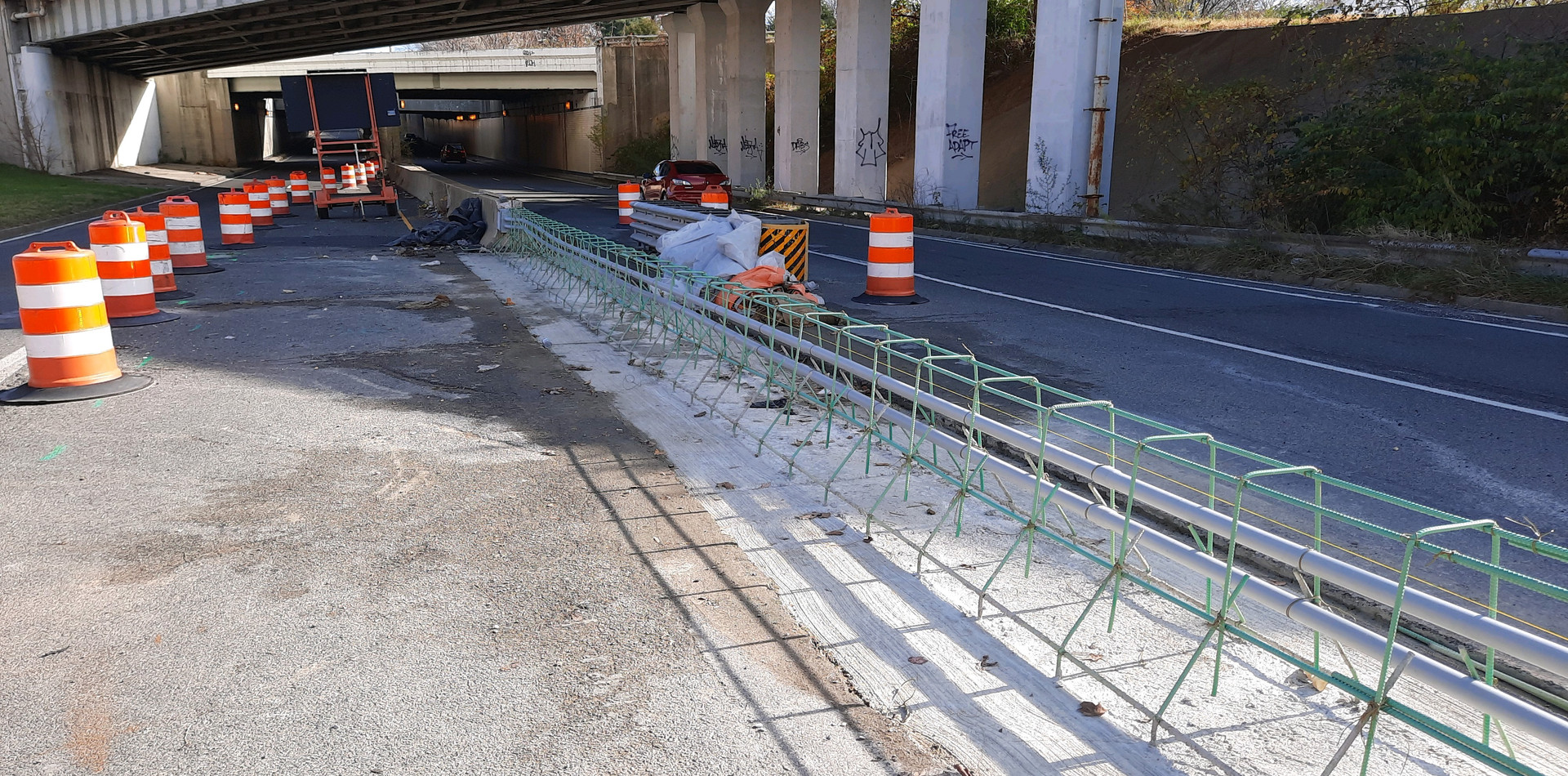 East Approach Median Barrier Reconstruction-Base