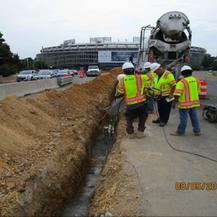 East Capitol Street Bridge Over Anacostia River, Placing Encasement Concrete, West Side