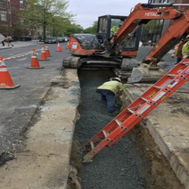 Backfilling Over Newly Installed Water Main on 14th and W Street