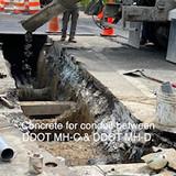 Concrete for conduit between DDOT MH-C & DDOT MH-D