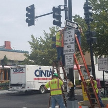 Installation of signs at SEC of 14th & S St