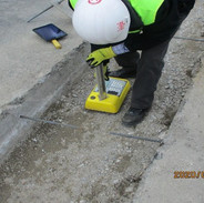 DDOT taking compaction test in trench
