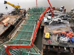 Concrete pour on the V-Pier 1
