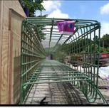 Rebar for Moment Slab Parapet Wall on AFW Bridge # 1017 over I-295 SB