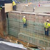 Backwall Reconstruction, East Approach North Bridge.