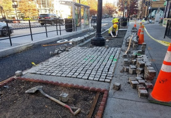 Permeable Pavers repaired at 1400 blk of 14th St by D.E.N.