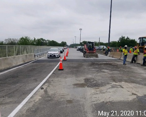 Phase 3 Traffic Switch looking east, North Bridge.