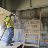 Repairing West Abutment Seat Wall, South Bridge.
